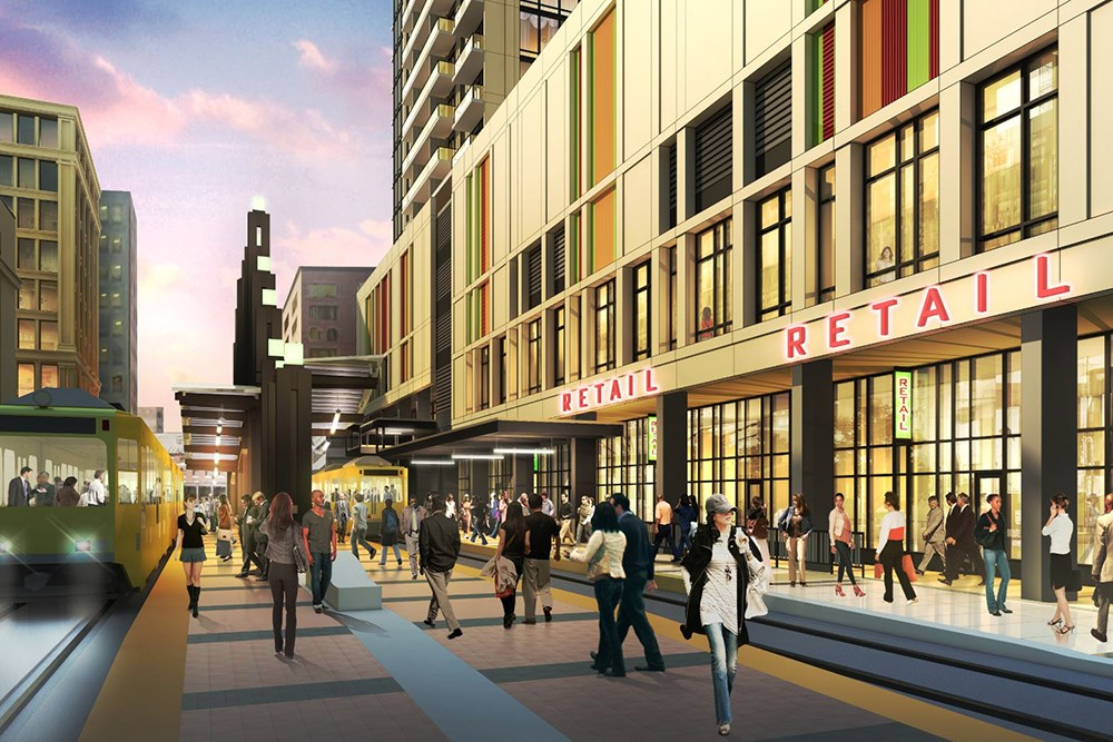 transit-oriented development, Opus Development Company, downtown Minneapolis