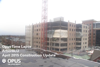 student housing construction, ArborBLU, University of Michigan