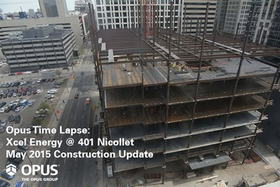 time-lapse video of construction progress on an urban office expansion