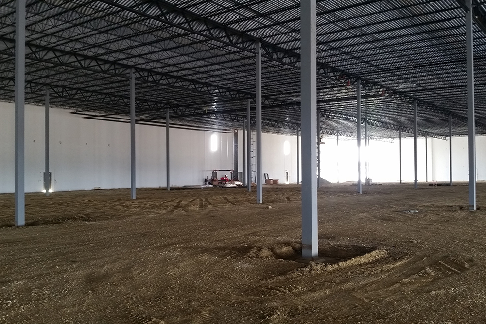 interior work on Paragon Business Park in suburban Chicago
