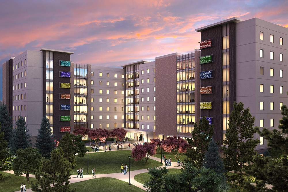 Iowa State University residence hall, constructed by Opus Design Build