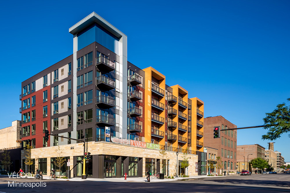 VELO mixed-use multifamily development by Opus