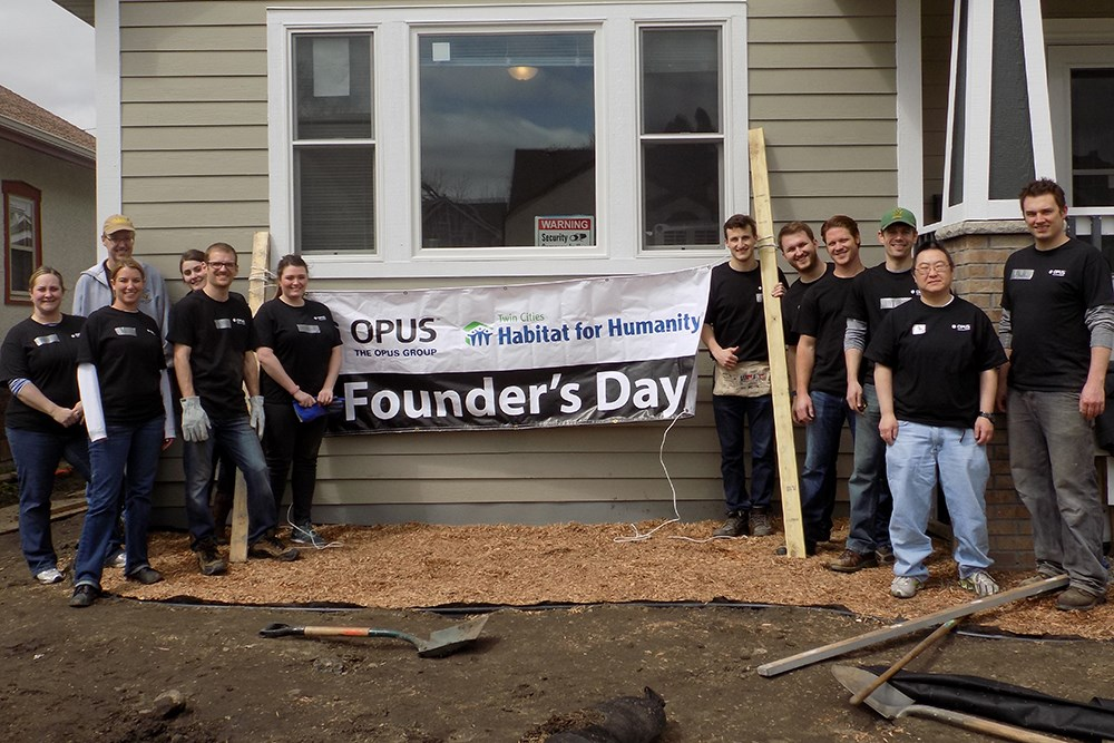Founder's Day 2016, a day of giving back to the communities where Opus' employees work and live.