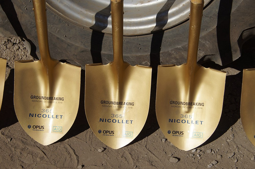 multifamily groundbreaking, downtown Minneapolis
