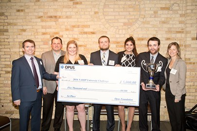 Students of Marquette University were awarded first prize in the NAIOP University Challenge.