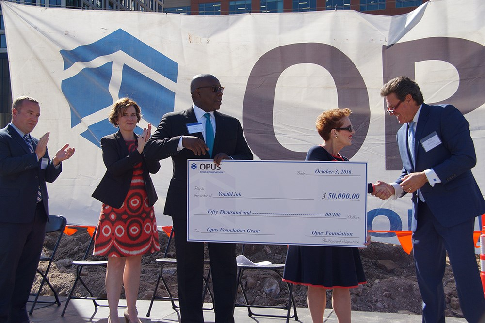 The Opus Foundation awarded YouthLink a $50,000 grant.