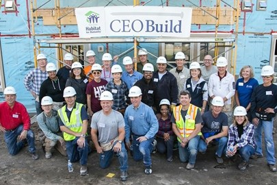 Opus leaders participated in Habitat for Humanity's CEO Build.