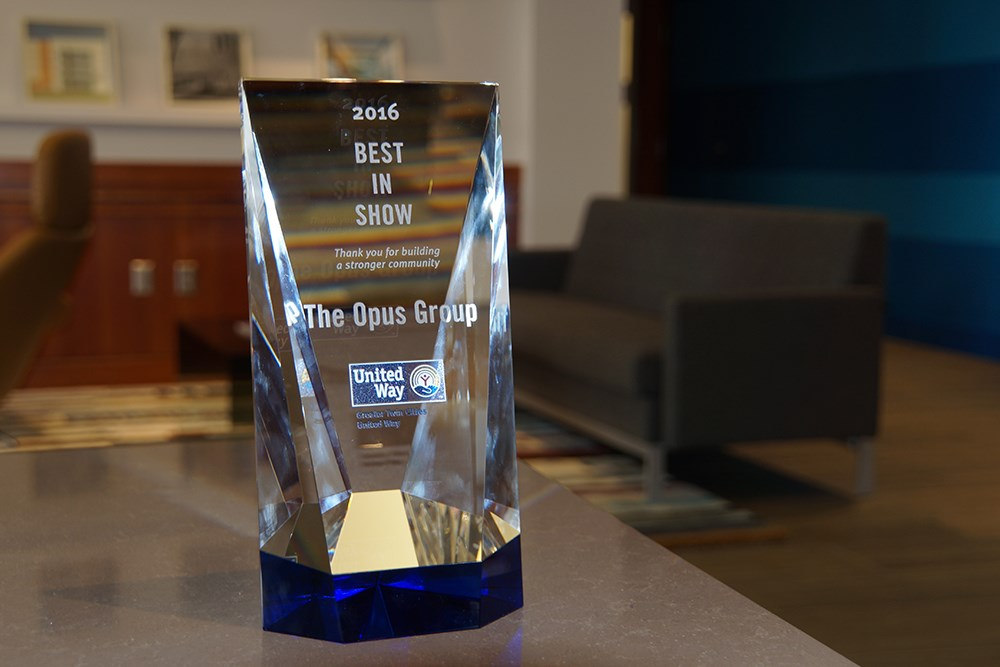 The Opus Group's United Way award