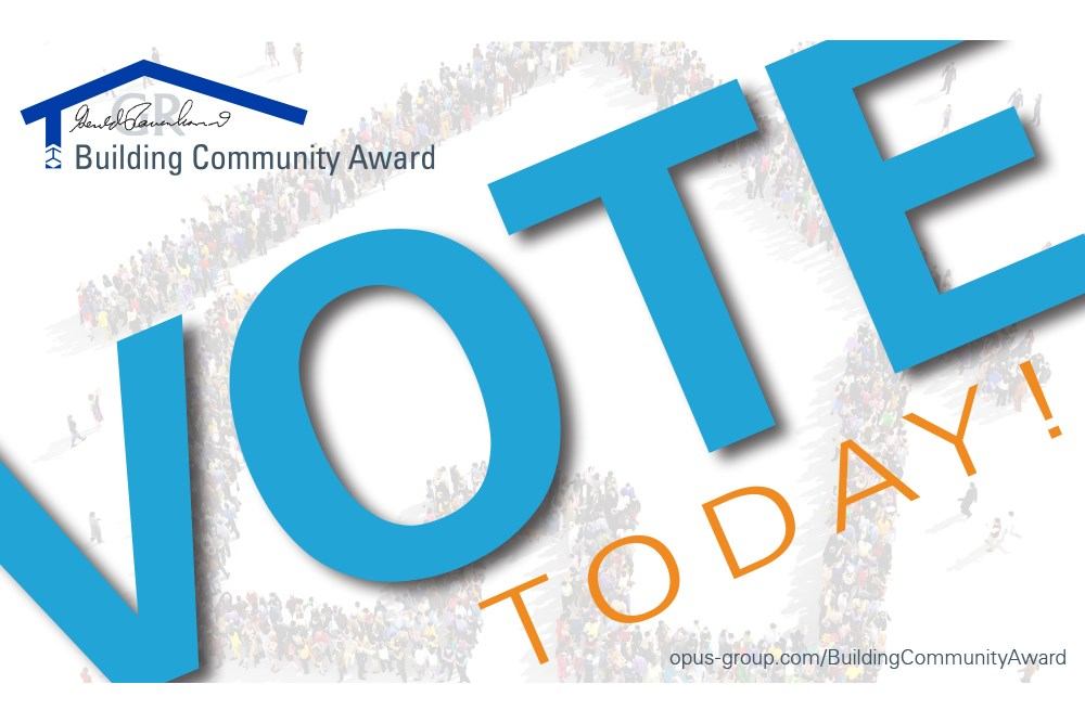 Voting is now open for the third annual Gerry Rauenhorst Building Community Award.