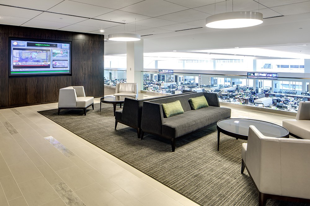 Gavilon World Headquarters incorporates employee gathering spaces that allow for casual meetings in home-like spaces.