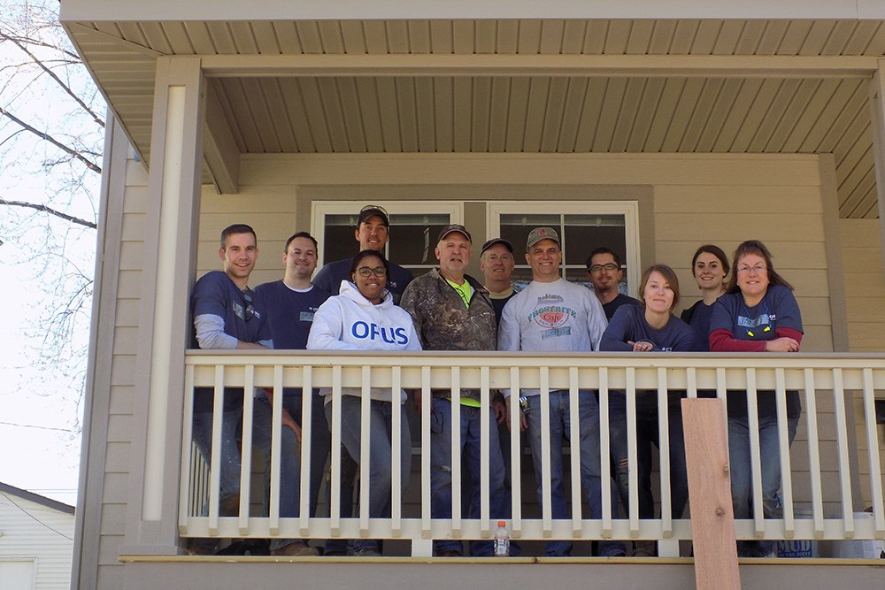 The Minneapolis office gave back to the community on Opus' 6th Annual Founder's Day.