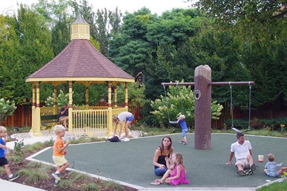 Clayton Century Foundation and the City of Clayton previously renovated Taylors Park with support from the Opus Foundation