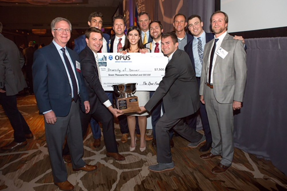 The Opus Foundation® awarded scholarships to winners of the NAIOP University Challenges in Denver, Indianapolis and Minneapolis.