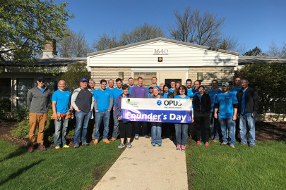 Associates across the company spent a day volunteering as part of our 8th Annual Founder's Day.