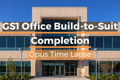 Outside of GS1 Office Build-to-Suit, built by Opus