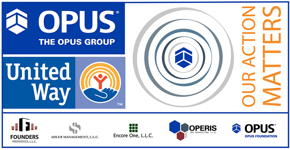 2019 Opus United Way Campaign logo