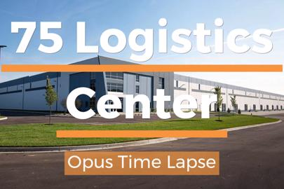 outside of 75 Logistics Center built by Opus