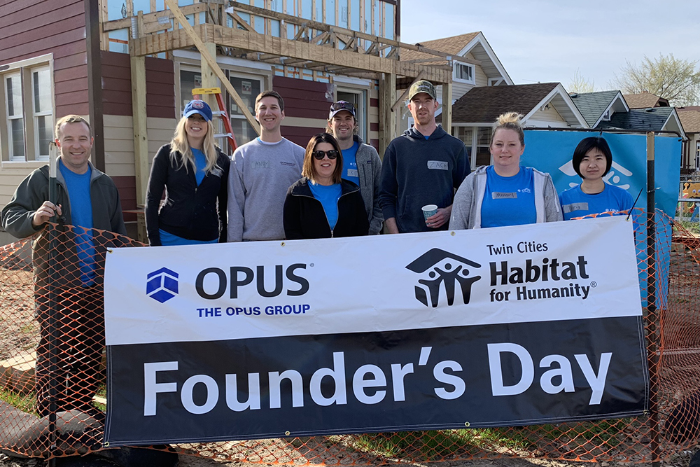 Opus Founders Day Minneapolis Habitat for Humanity