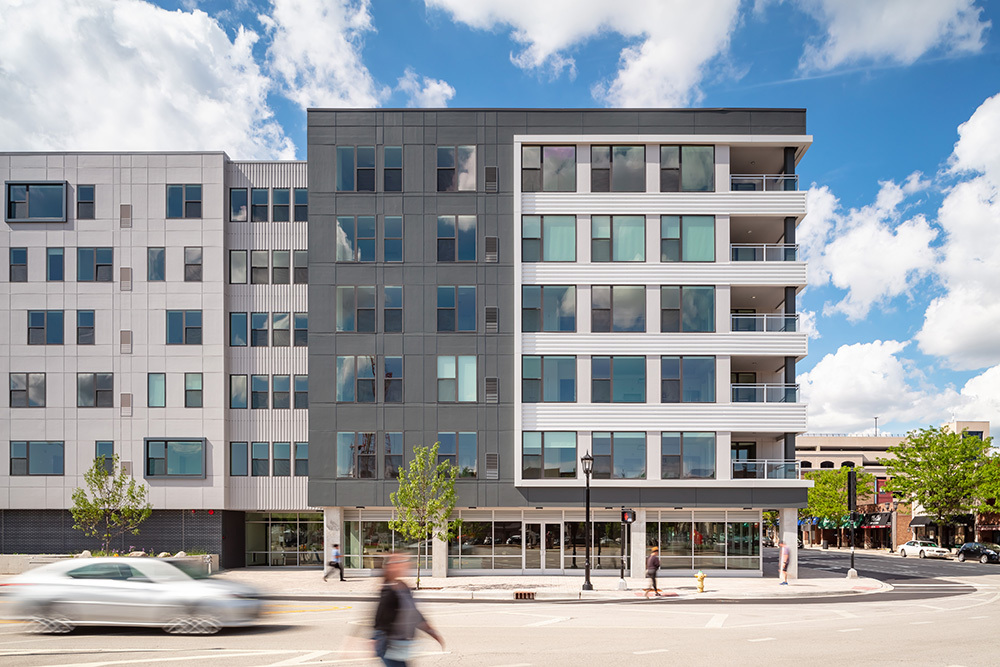 The Marke of Elmhurst Luxury Multifamily Exterior developed by Opus
