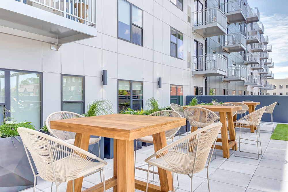 The Marke of Elmhurst Luxury Multifamily Outdoor Amenity developed by Opus
