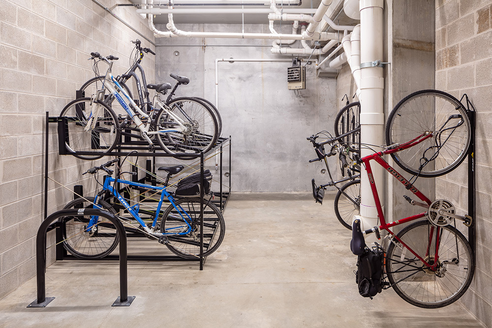 The Marke of Elmhurst Luxury Multifamily Bike Storage developed by Opus