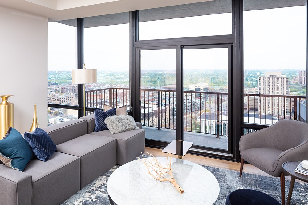 365 Nicollet luxury apartments in Downton Minneapolis by Opus