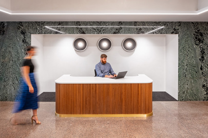 Employee entrance and concierge at 3701 Wayzata Blvd office in Minneapolis
