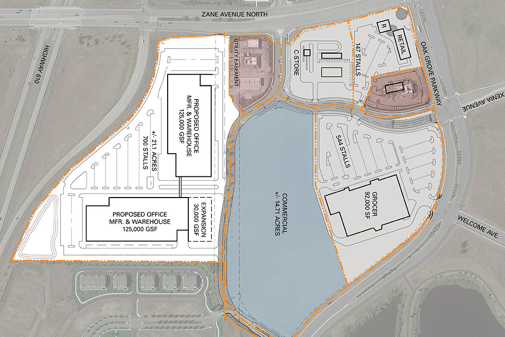 610 Crossings Office/Flex Development site plan