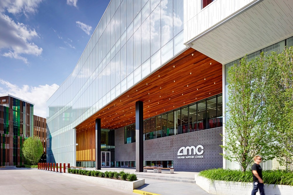 AMC Theatre Support Center, suburban office construction