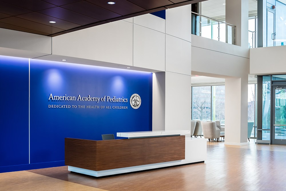 American Academy of Pediatrics headquarters office designed by VOA, built by Opus