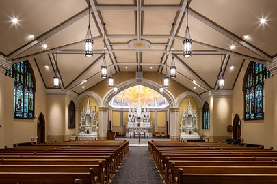 Renovated worship spaces at Ascension Church in Minneapolis, MN