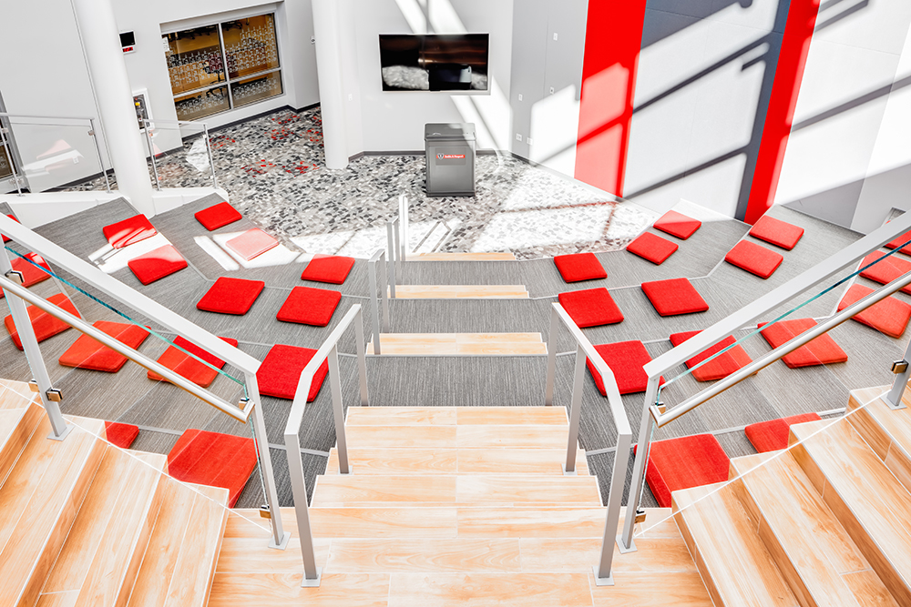 Open classroom at Benilde-St. Margaret's Renovation by Opus Design Build, L.L.C.