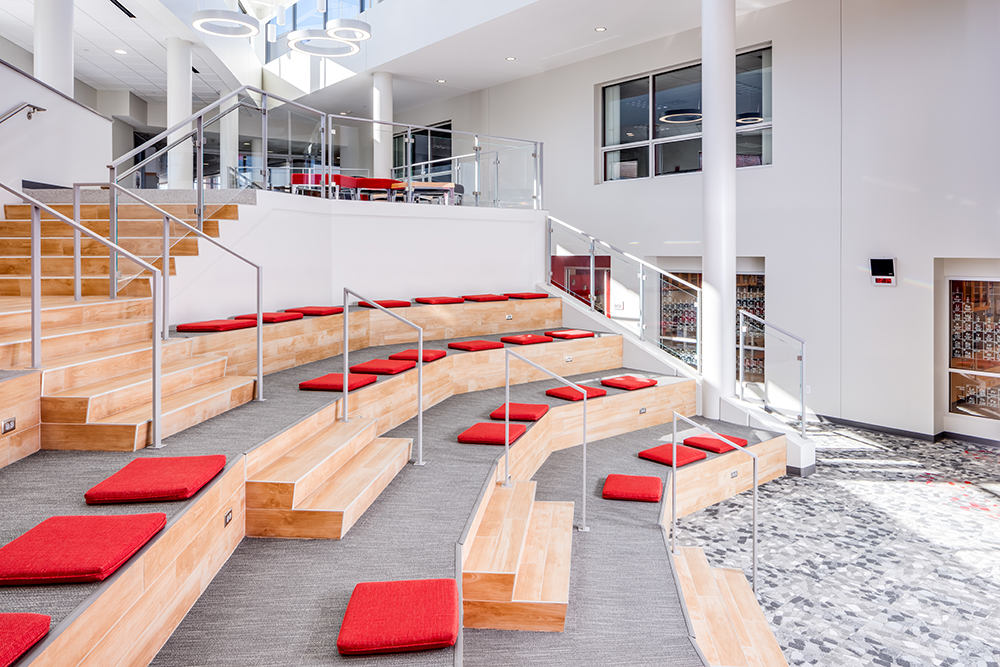 Open classroom at Benilde-St. Margaret's Expansion & Renovation by Opus Design Build, L.L.C.