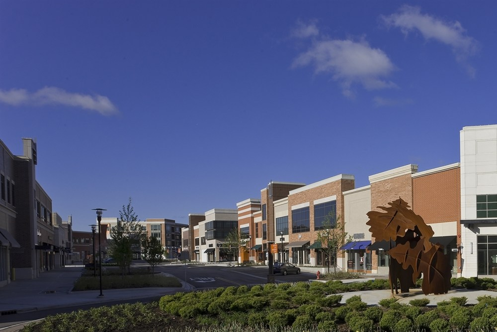 Burr Ridge Village Center, residential development, retail development, mixed-use development