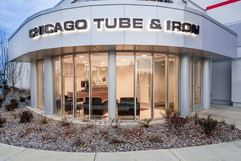 Opus Design Build showed its industrial construction expertise with Chicago Tube & Iron's warehouse expansion.