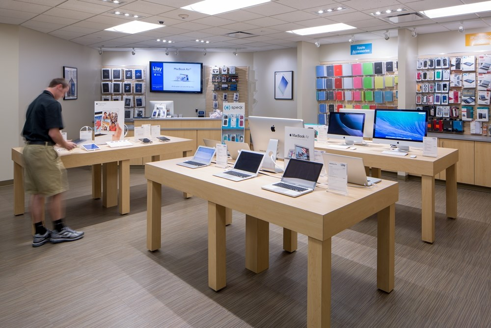 The redesign of Creighton University's Harper Center incorporated the iJay store, an Apple authorized store run by students.