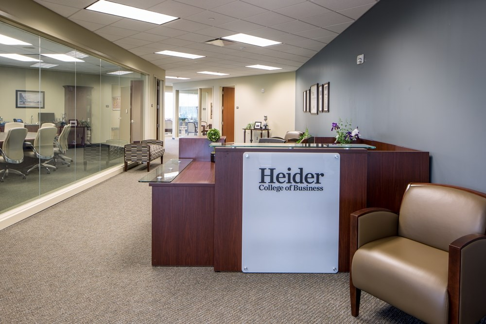 The Heider College of Business was designed by Opus AE Group to be welcoming and collaborative.
