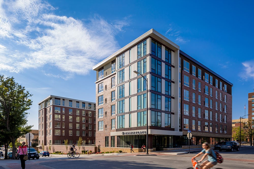 District Flats student housing developed by Opus