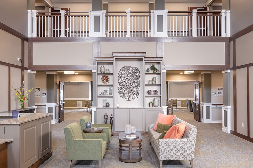 lobby of Orchards of Minnetonka senior living facility in Minnesota