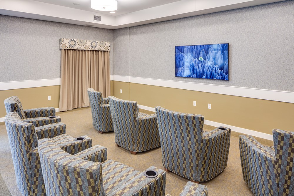 community room of Orchards of Minnetonka senior living facility in Minnesota