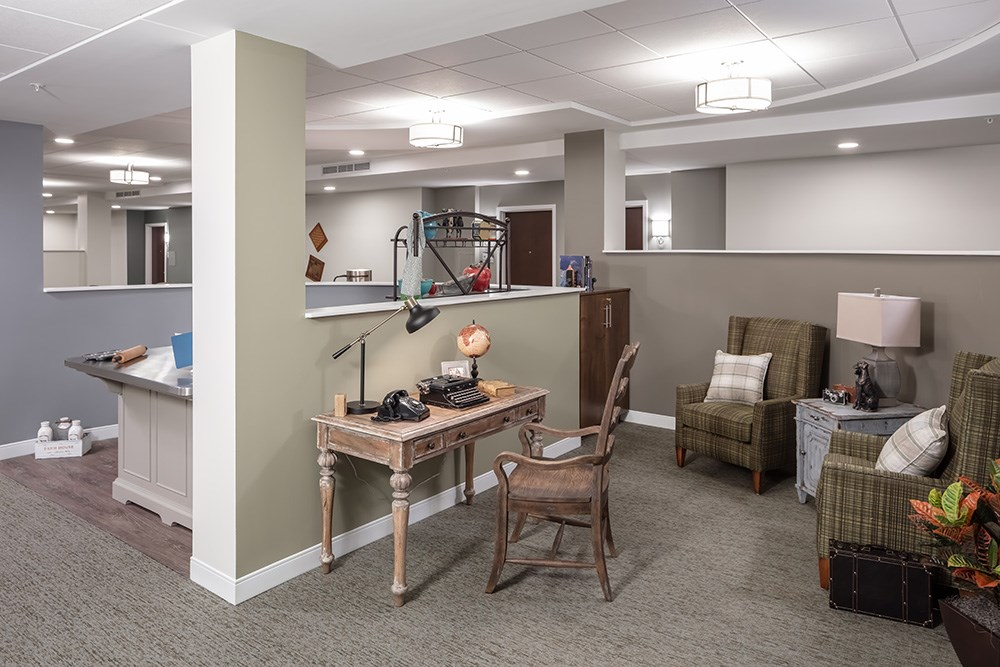 memory care activity space of Orchards of Minnetonka senior living facility in Minnesota