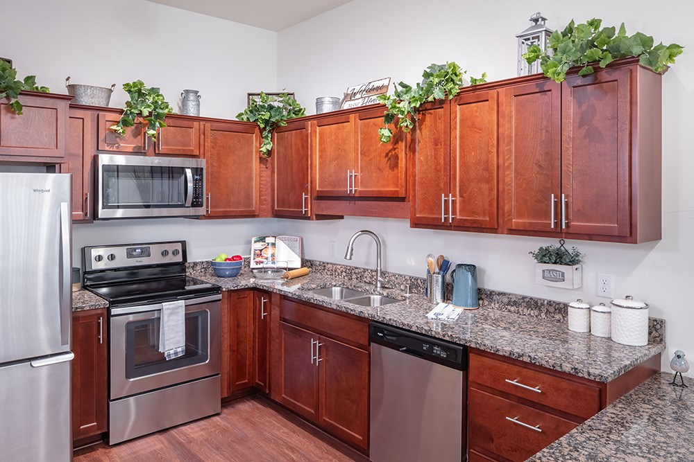 apartment kitchen of Orchards of Minnetonka senior living facility in Minnesota