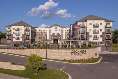 front entrance of Orchards of Minnetonka senior living facility in Minnesota
