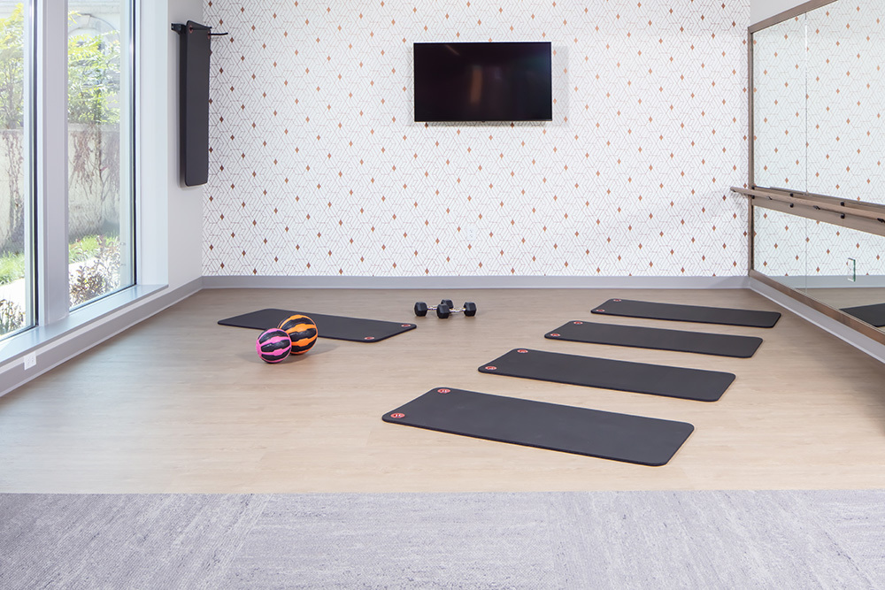 fitness space of Ellison Luxury Apartments in Illinois