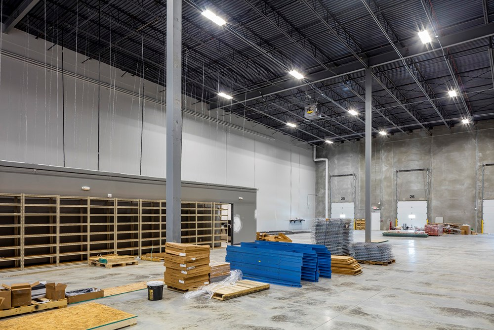 Suburban Des Moines industrial warehouse development by Opus