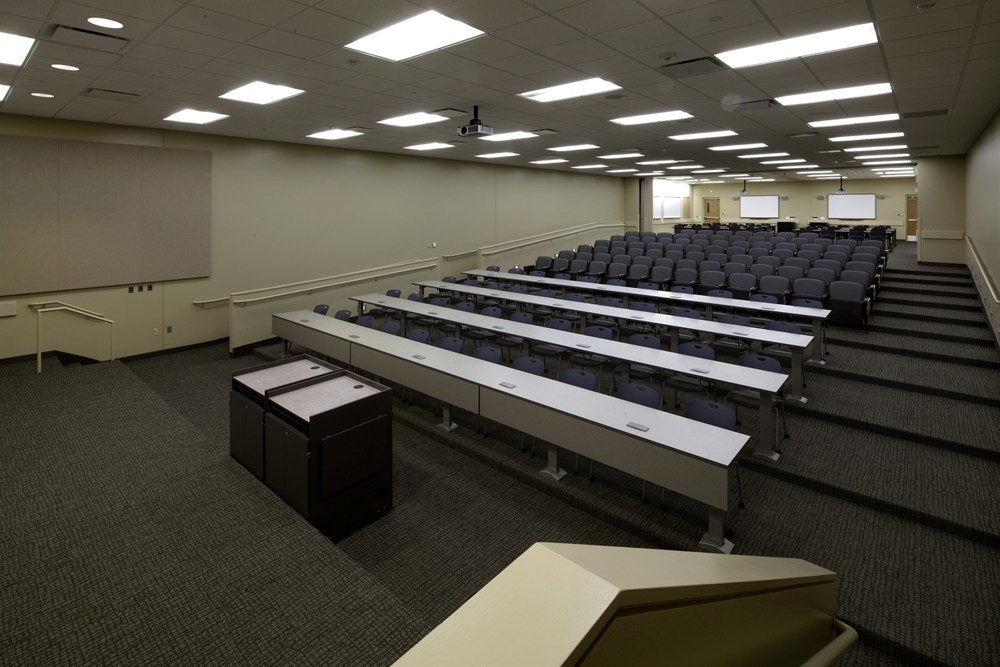 Iowa Army National Guard AFRC Complex in Cedar Rapids, Iowa, includes large classroom spaces.