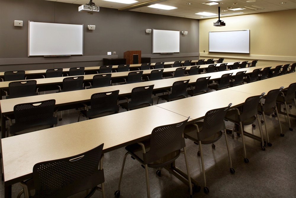 owa Army National Guard AFRC Complex in Cedar Rapids, Iowa, includes large classroom spaces.