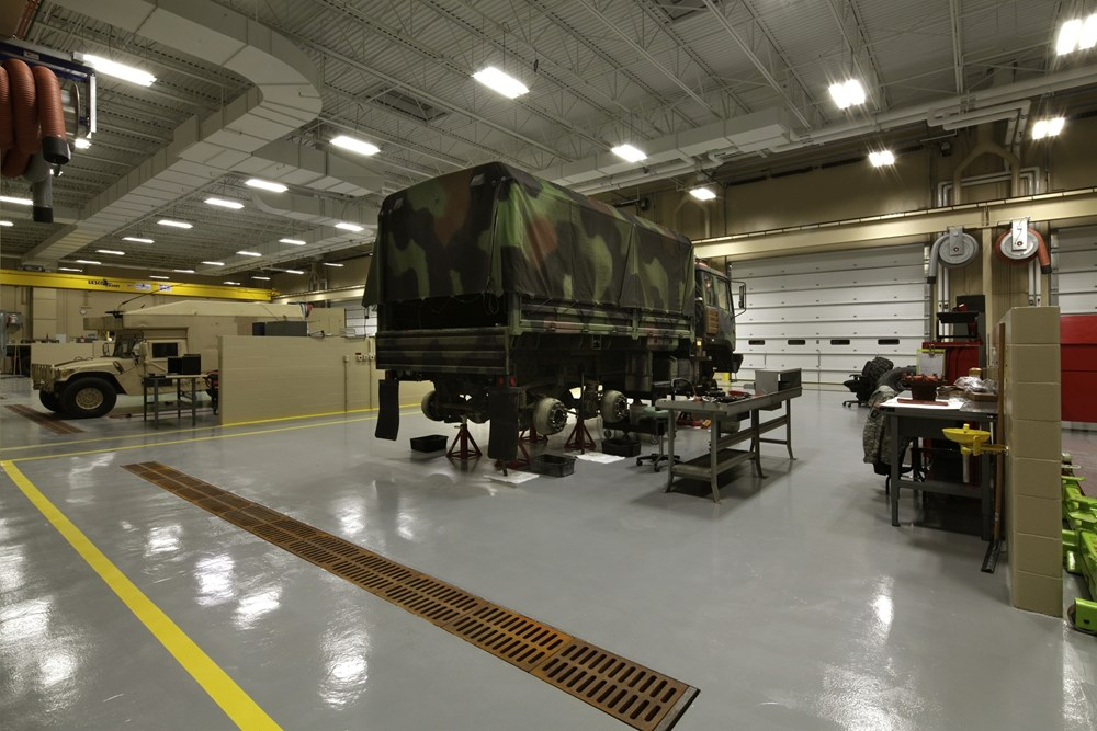 Iowa Army National Guard AFRC Complex's Field Maintenance Shop is used to repair and maintain the equipment and fleets.
