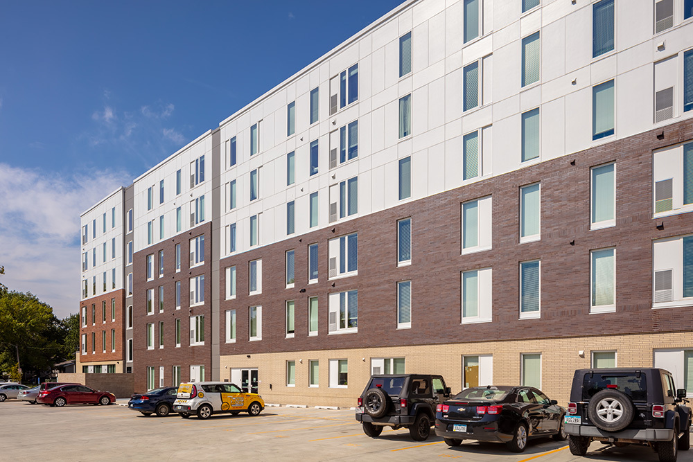 exterior of The Union on Lincoln Way Student Living