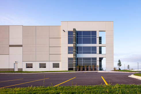 Entrance of Rock Creek Logistics Center in Illinois by Opus